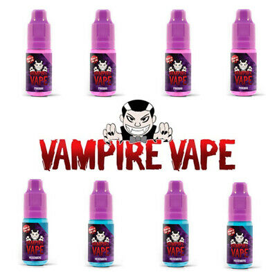 Vampire Vape 4 x 10ml Pinkman Heisenberg E-Liquid 4er Set 0/3/6/12 mg - ORIGINAL