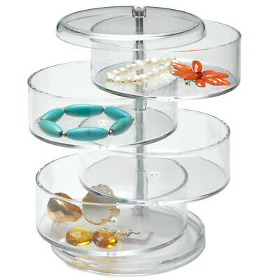 4 Tier Rotating Clear Acrylic Cosmetic/Work Stationary Organiser Makeup