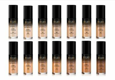MILANI CONCEAL + PERFECT 2in1 FOUNDATION + CONCEALER 100% AUTHENTIC try it!