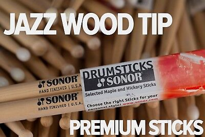 Sonor Jazz Wood Tip Drum Sticks by Vic First (Brick of 12 Pairs)