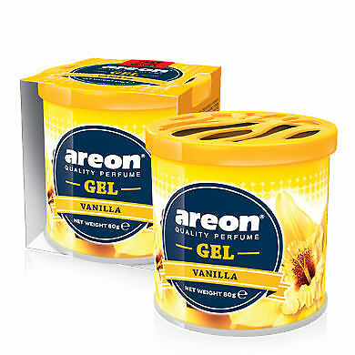1 x Air Freshener Car Freshener Scent Areon Gel Vanilla Perfume Car Home Office