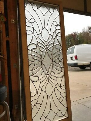 Brick 6 Antique Glue Chip Beveled Landing Window Amazing 26 X 71.25
