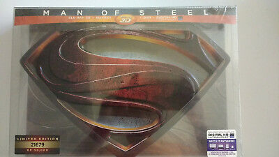 Man of Steel (3D+Blu-ray+DVD) 4-Disc, Limited Collectors Edition