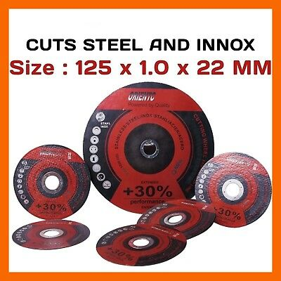 """50 X 5"""" 125Mm Cutting Discs Wheels Angle Grinder Cut Off Metal Steel Stainless"""