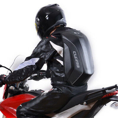 Motorcycle Backpack Hard Shell Air Flow Track Riding No Drag Back Pack