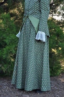 Handmade 1900 Ladies Edwardian Victorian Walking/ Riding Suit Skirt  Jacket Lace