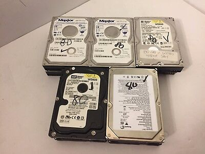 "Lot of 10 ASSORTED 80GB 3.5"" IDE Hard Drives Securely Wiped & Tested Mixed Lot"