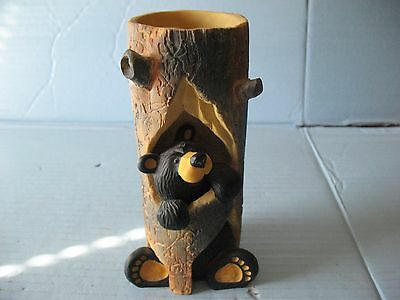 "Bearfoots Bears Jeff Fleming Big Sky Carvers ""Sparky"" Candle Holder"