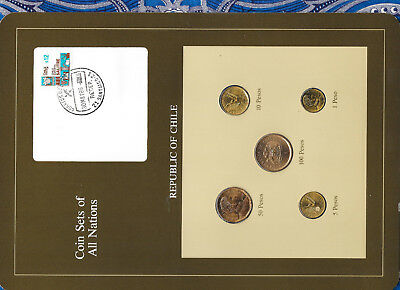 Coin Sets of All Nations Chile UNC 1982-1986 100 Pesos 1985 50 Pesos 1982