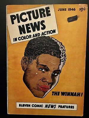 "PICTURE NEWS COMIC-1946 Vol 1 No 6  JOE LOUIS - ""THE WINNAH"" EXTREMELY RARE FIND"