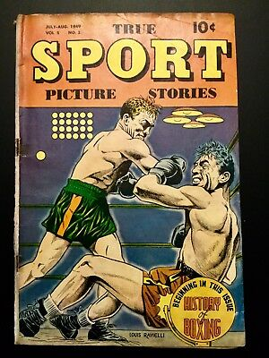 "TRUE SPORT PICTURE STORIES VOLUME 5 #2  July 1949  ""History Of Boxing"" Issue"