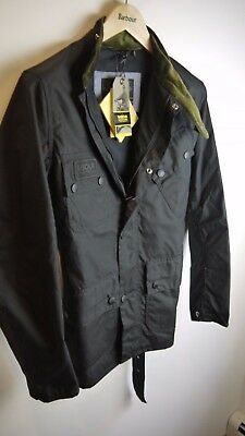 Barbour International Men's Wax Scrambler Jacket, NWT, Black, Small