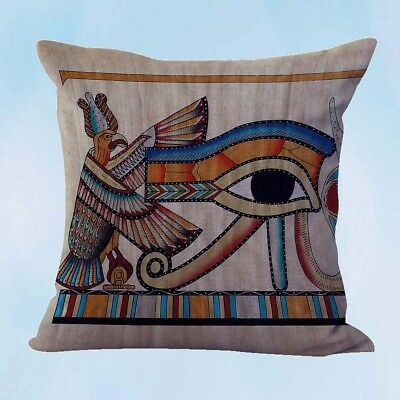 decorative throw pillow cover Eye of Ra Ancient Egyptian cushion cover