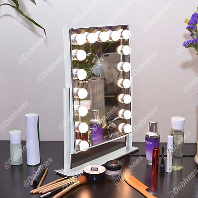 WHITE / BLACK Hollywood Mirror Makeup LED Vanity Mirror TOUCH SCREEN DIMMABLE