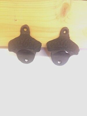 Cast Iron Vintage Style Coca-Cola Bottle Opener 2 Piece Lot   (Free Shipping)