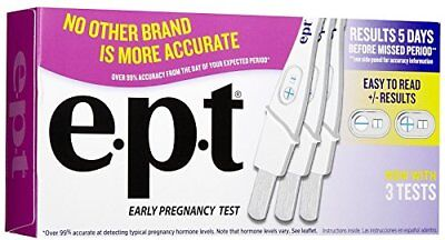 9 Pack e.p.t. Analog Early Pregnancy Test Easy Read Results 99% Accurate 3 Ea.