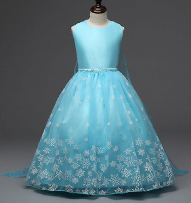 Gorgeous Frozen Queen Elsa Princess Anna Costume Cosplay Party Dress Up O61b