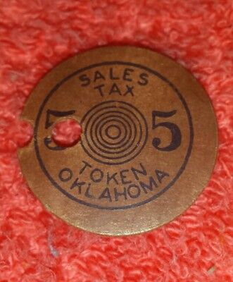 MIS - PRINT ERROR Tax Token Oklahoma Vintage paper Old Age Assistance 5 Mill