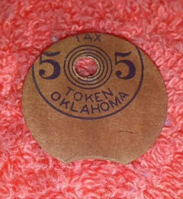 MULTIPLE ERRORS Tax Token Oklahoma Vintage paper Old Age Assistance 5 Mill