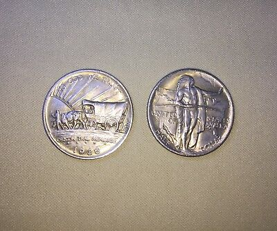 Oregon Trail coin, end of the trail Indian on back, great peice of work. pressed