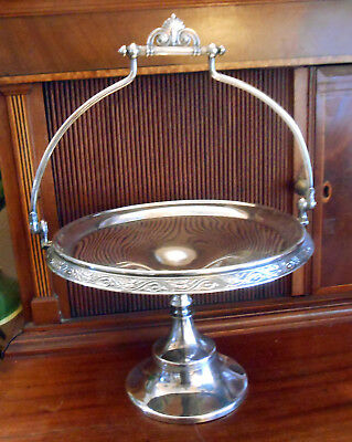 Antique Victorian Reed and Barton Silverplate Swing Handle Bride's Basket #3510