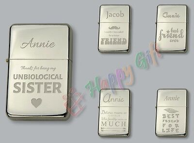 BEST FRIEND Personalised  Petrol Lighter  FREE Engraved  Gift