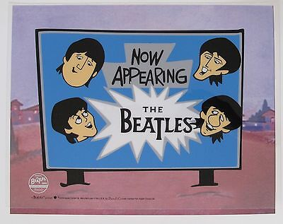 THE BEATLES NOW APPEARING Animation Art Cartoon Sericel Limited Edition Cel