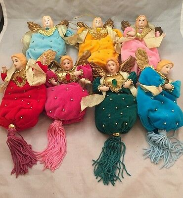 """Lot of 7 Avon Gift Collection Birthstone Angels 5"""" - 1996"""