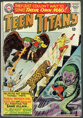 TEEN TITANS  1  VG-/3.5  - 1st issue from 1966!