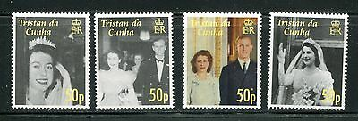 Tristan Da Cunha 803-807, 2007 Qe Ii Wedding, And S/s, Mnh, (Id3934)