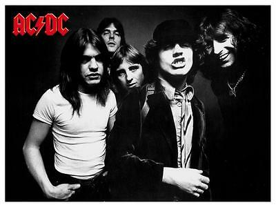 AC/DC  *LARGE POSTER* Highway To Hell RARE Bon Scott Angus Young B&W