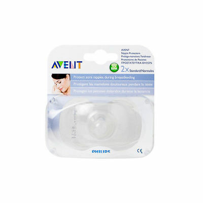 AVENT Nipple Protectors 2 Pack Standard Size BPA Free