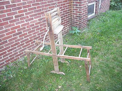 Antique Anchor Brand Wooden Clothes Wringer Folding Double Clothes Rack