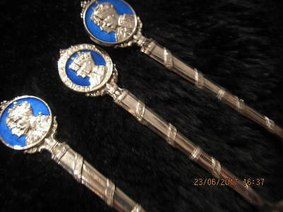 British Monarch Heads Sterling Silver Masterpiece Souvenir Spoons W.h. Hasselor