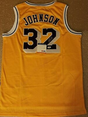 huge selection of 901b9 101cb MAGIC JOHNSON SIGNED Adidas Authentic LA Lakers Jersey PSA ...