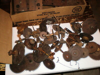 Large Lot of Antique-American-Wooden Works Clock Parts-Ca.1830-#M409