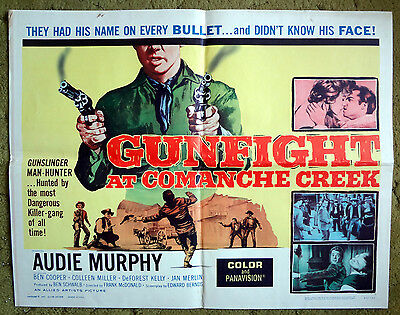 """GUNFIGHT AT COMANCHE CREEK"" Audie Murphy must STOP Ruthless Outlaws - poster"
