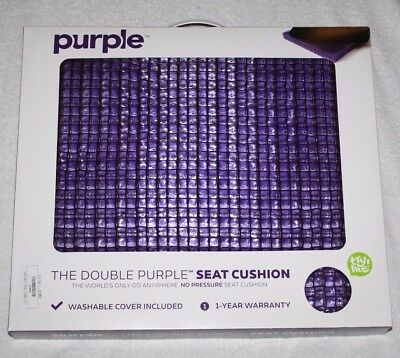The Double Purple No-Pressure Seat Cushion w/ Washable Cover New In Box Made USA