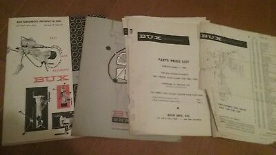 BUX drill vintage catalog, parts, price list