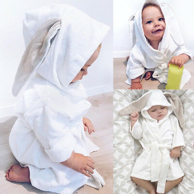 Boy Girl Animal Baby bathrobe hooded bath towel infant bathing Honey Baby LIW