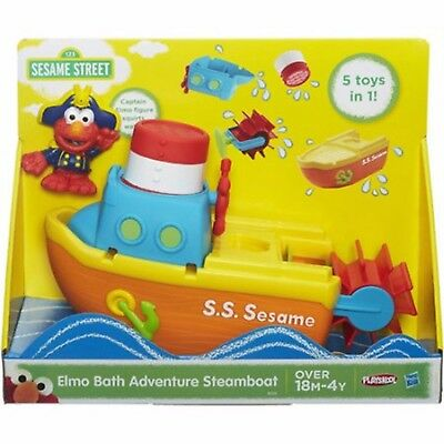Playskool Sesame Street Elmo Bath Adventure Steamboat Toy