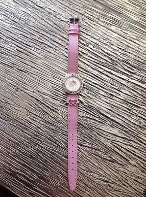 Sanrio Hello Kitty Unique Pink Band White Pink Bling Around Watch Face NWOT