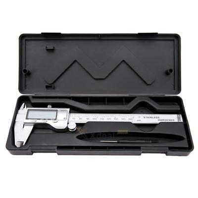 XD#3 150mm Stainless Steel Electronic Digital Vernier Caliper Micrometer Guage L