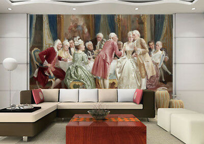 3D Dinner Party 85 Wall Paper Murals Wall Print Wall Wallpaper Mural AU Summer