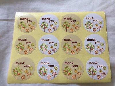 50PCS/set Thank you stickers for homemade cakes muffins cookies chocolates Seal