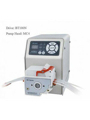 Peristaltic Pump 0.0265-64.5 ml/min per channel 4 channel 6 Roller BT100N