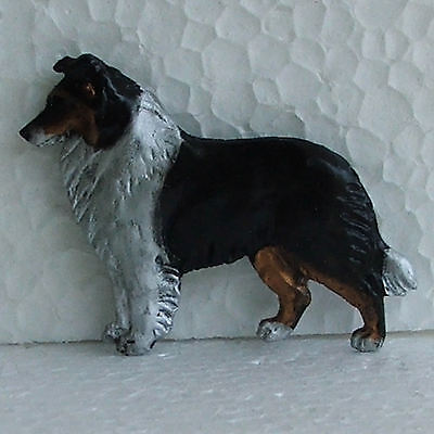 Border Collie Tricolour Resin Brooch Dog Breed Jewellery Handpainted Handcrafted