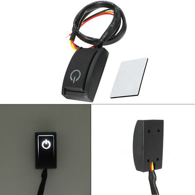 DC12V/200mA Car Push Button Latching Turn ON/OFF Switch LED Light RV Truck New