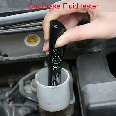 Brake Fluid Tester LED Moisture Water Compact Tool DOT3 4 Test Indicator Pen@LIN