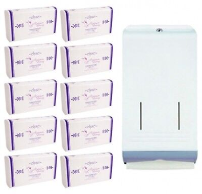 Pack - Best Buy Combo Metal Dispenser And Hand Towel Set in White Dispenser